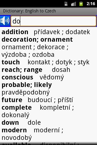 dictionary - modul