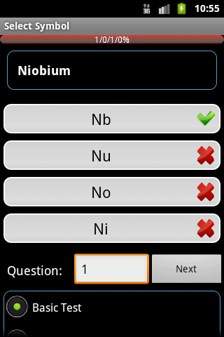 Periodic Table Big Chemistry Quiz Android Software | Android Software