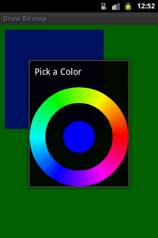 Color Picker Dialog Android example | Android Software