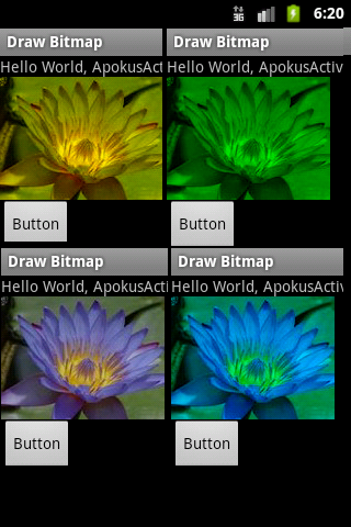 colored filtering bitmap android