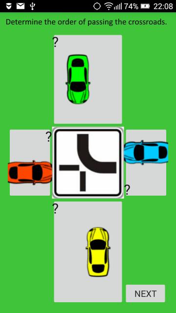 křižovatky testy autoškola pravidla pravé ruky