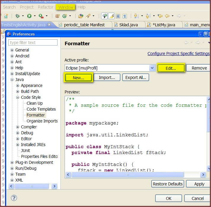 Android Code Style in Intellij Idea / Android Studio ...