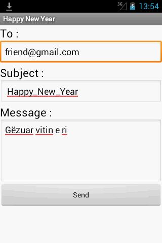 HAPPY NEW YEAR SENDER